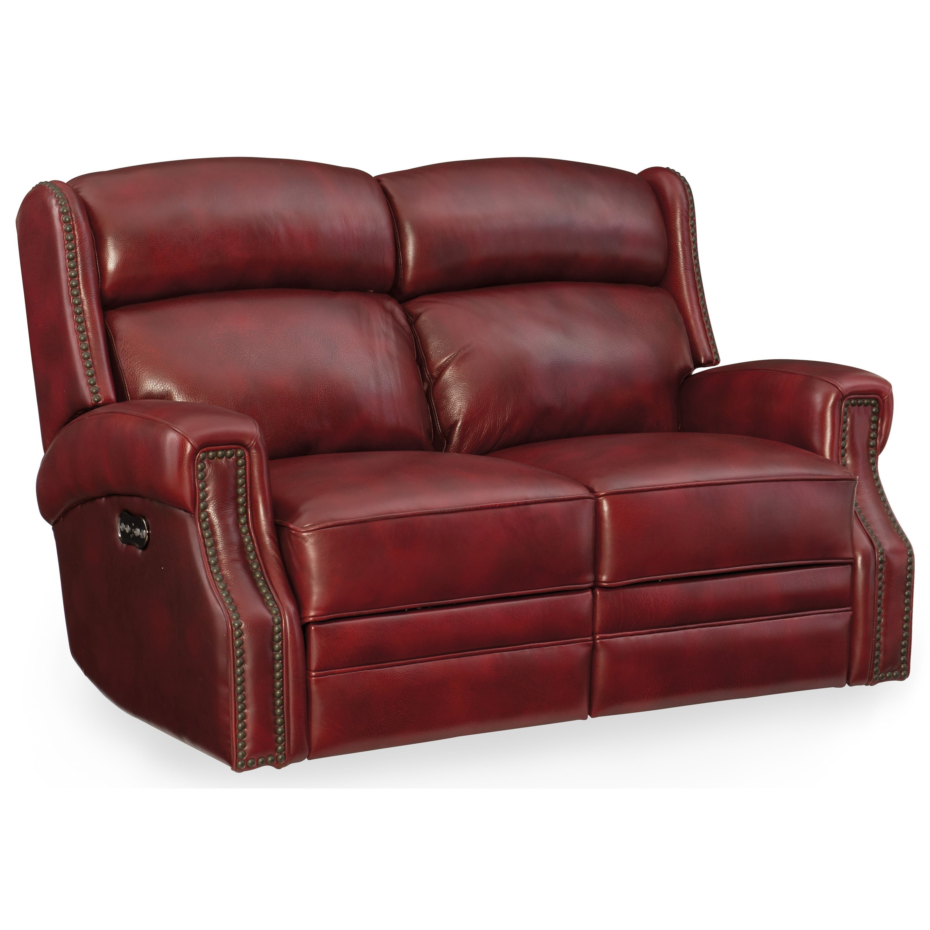 Carlisle Power Motion Loveseat with Power Headrest by Hooker Furniture at Miller Waldrop Furniture and Decor