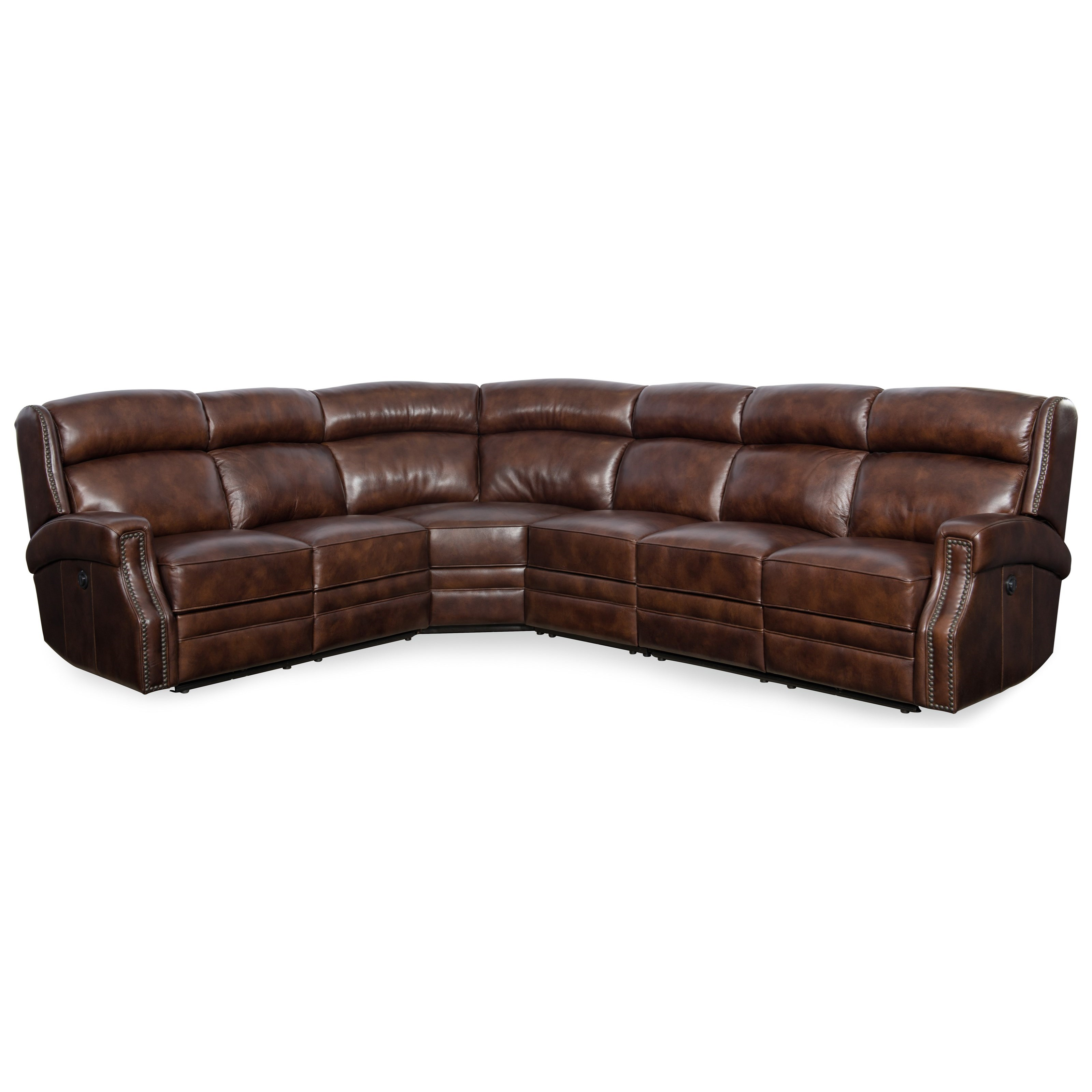 Carlisle Power Reclining Sectional by Hooker Furniture at Baer's Furniture