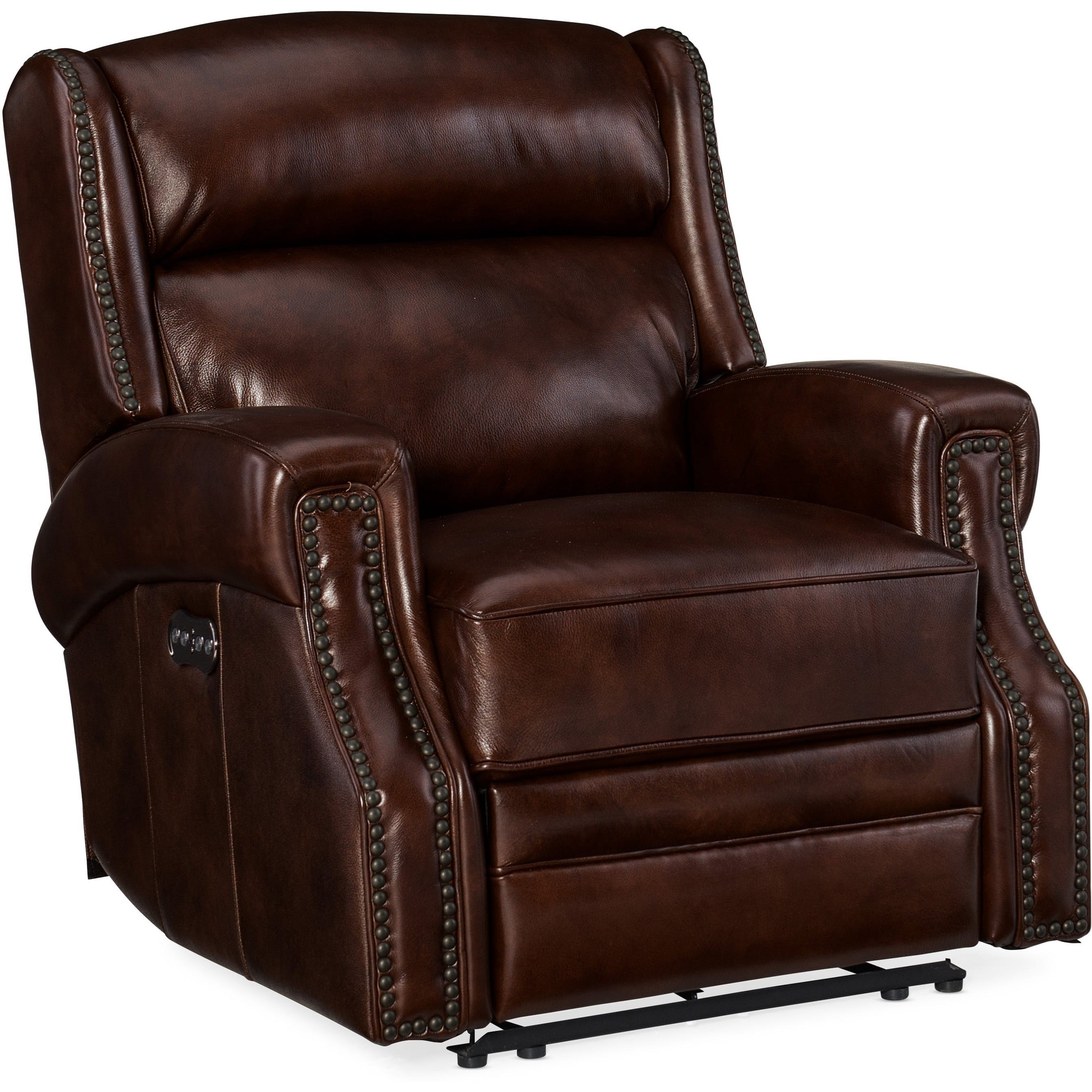 Carlisle Power Recliner with Power Headrest by Hooker Furniture at Miller Waldrop Furniture and Decor