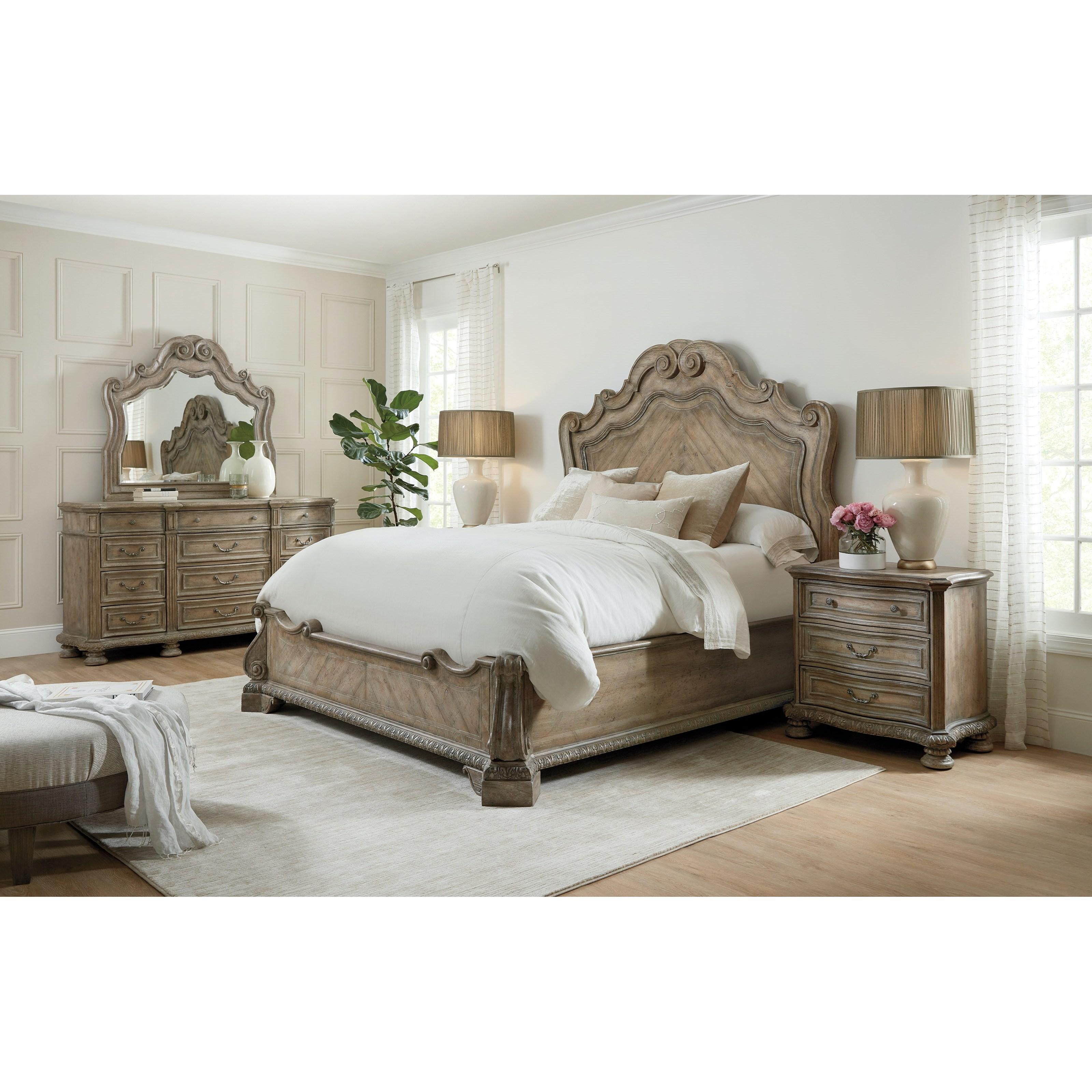 Castella King Bedroom Group by Hooker Furniture at Miller Waldrop Furniture and Decor