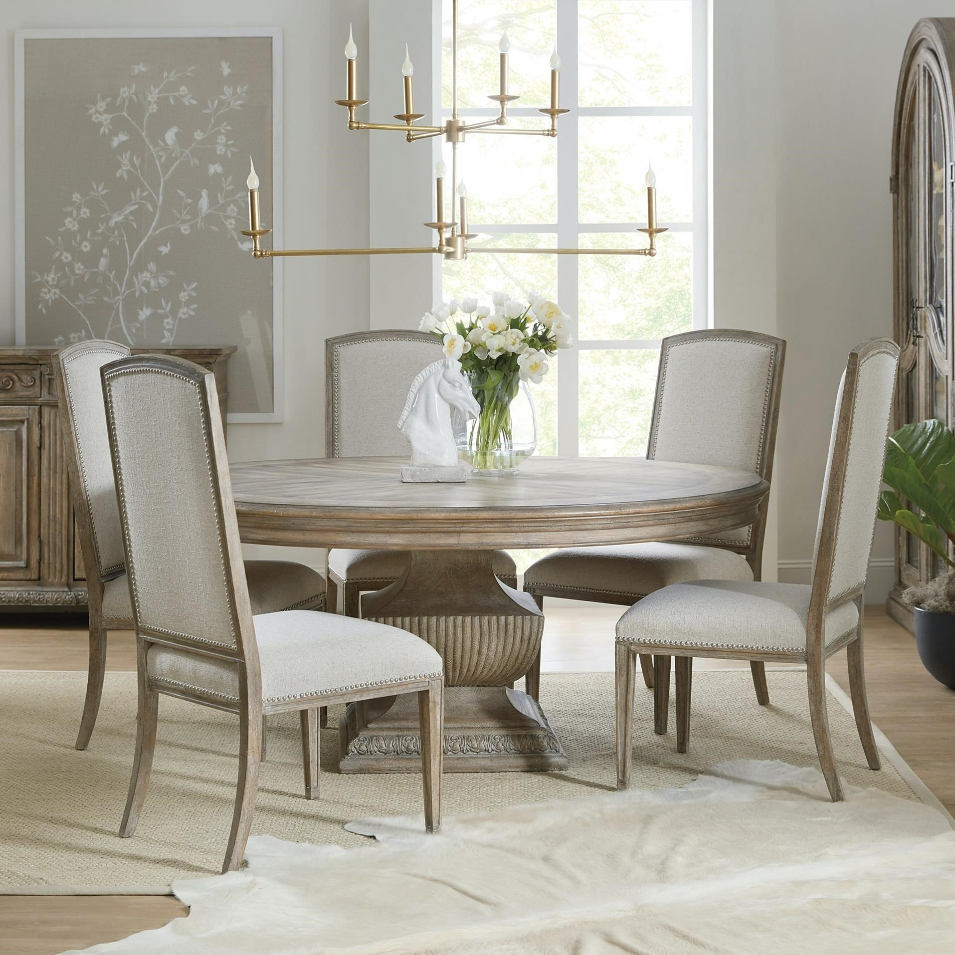 Castella 7-Piece Round Table and Chair Set by Hooker Furniture at Baer's Furniture