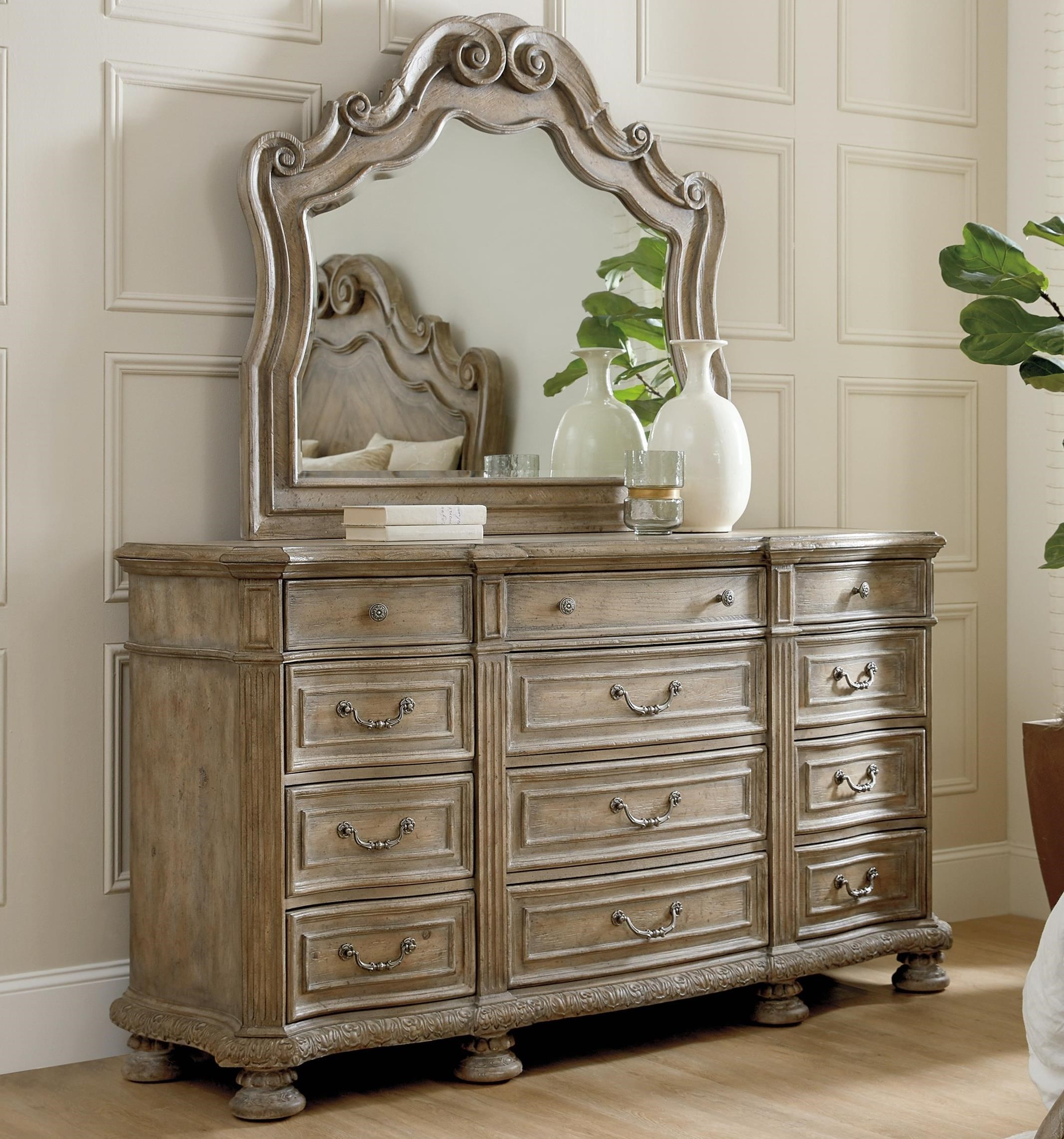 Castella Dresser and Mirror Set by Hooker Furniture at Alison Craig Home Furnishings