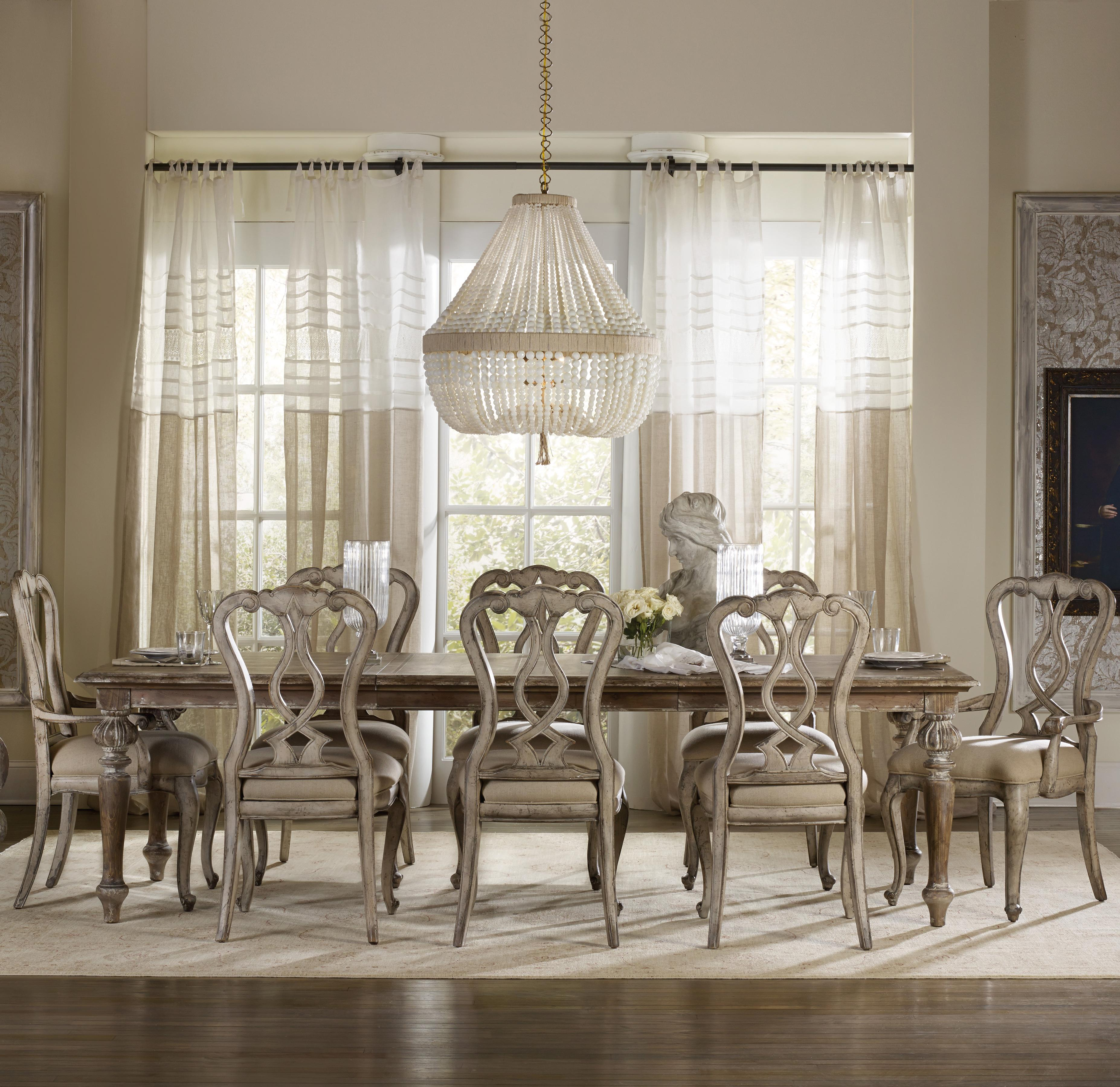 Chatelet 9 Piece Dining Set by Hooker Furniture at Miller Waldrop Furniture and Decor
