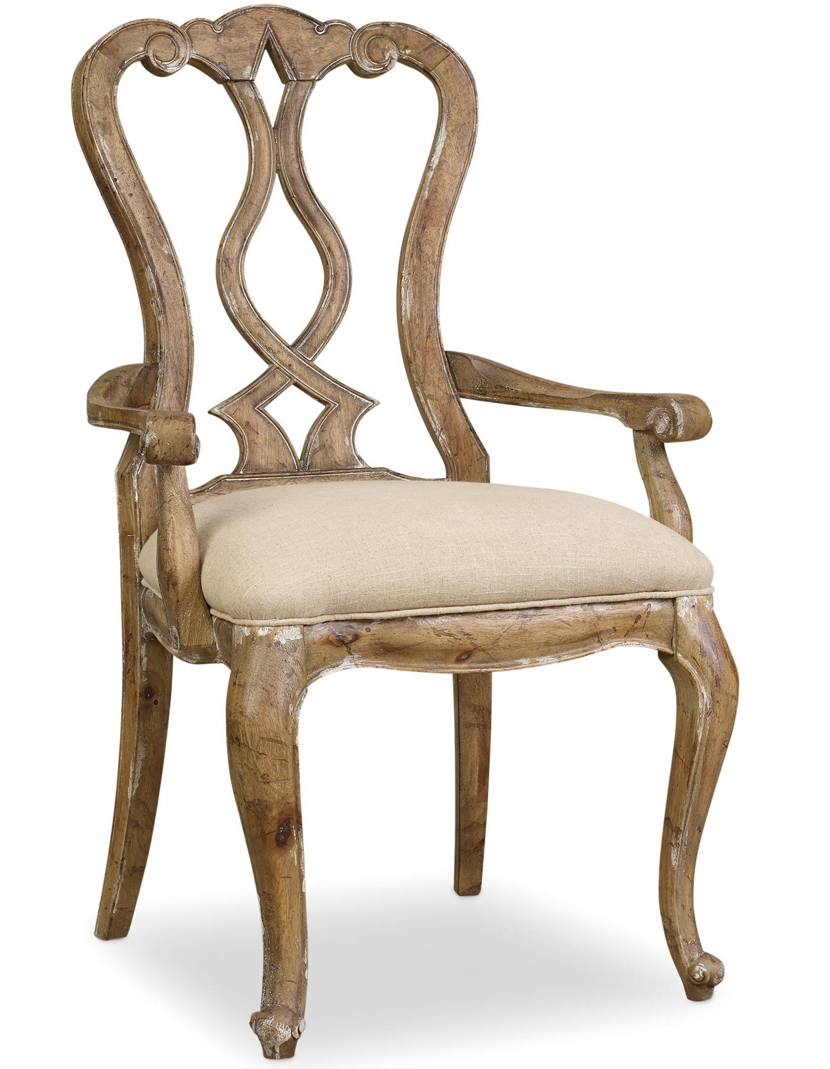 Chatelet Splatback Arm Chair by Hooker Furniture at Baer's Furniture