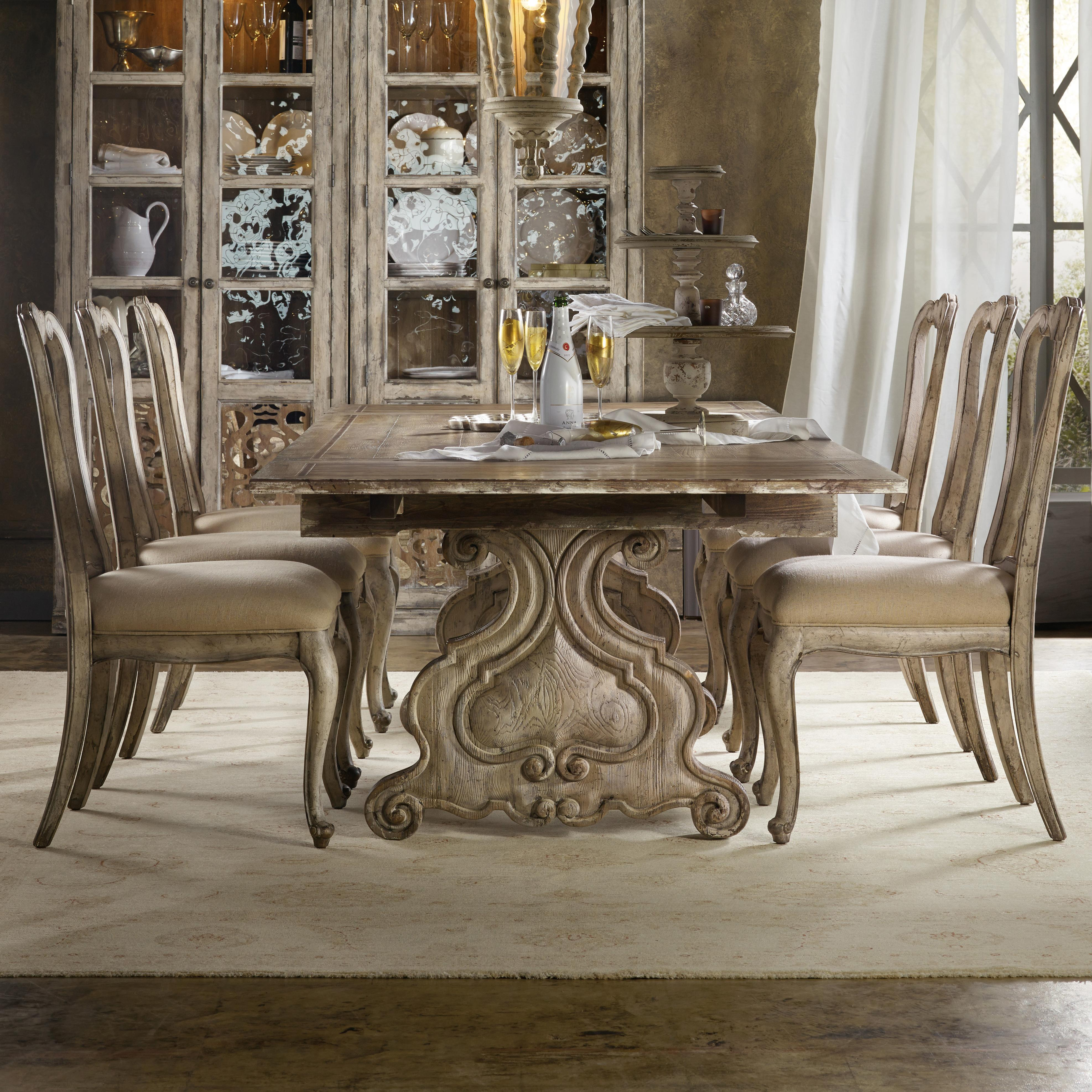 Chatelet 7 Piece Dining Set by Hooker Furniture at Alison Craig Home Furnishings