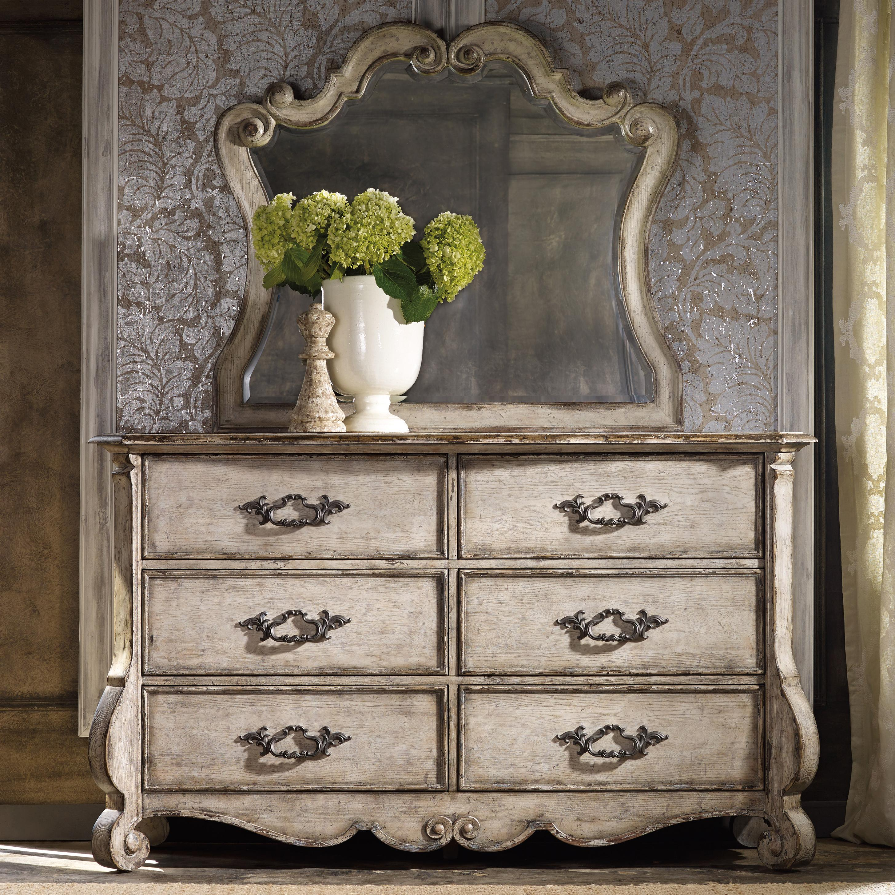 Chatelet Dresser and Mirror Set by Hooker Furniture at Miller Waldrop Furniture and Decor