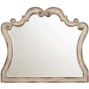 Mirror with Scroll Motif