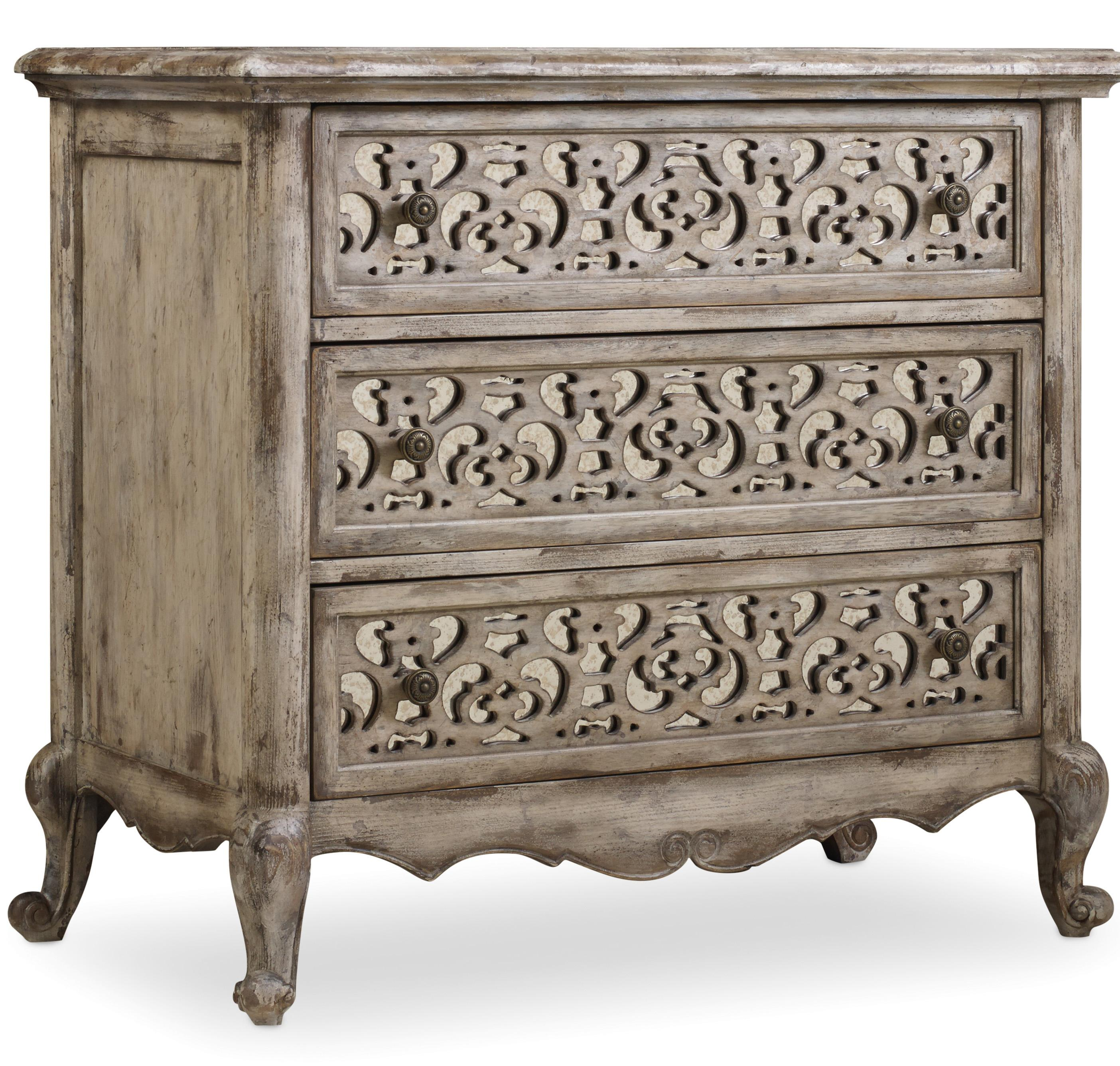 Chatelet Fretwork Nightstand by Hooker Furniture at Miller Waldrop Furniture and Decor