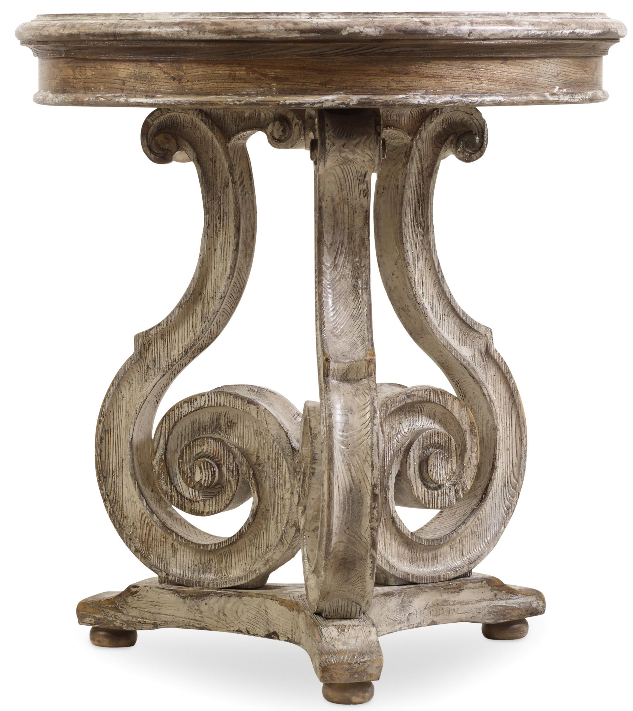 Chatelet Scroll Accent Table by Hooker Furniture at Miller Waldrop Furniture and Decor