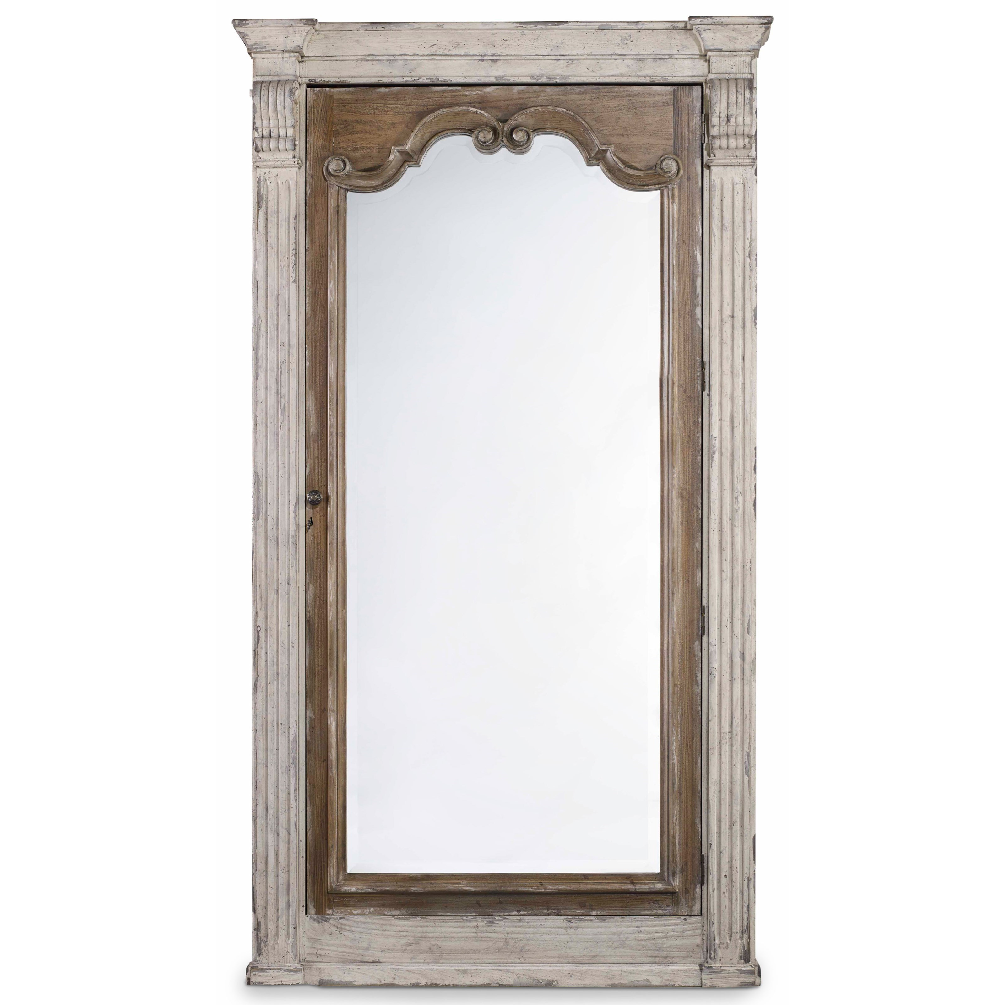 Chatelet Floor Mirror with Jewelry Armoire Storage by Hooker Furniture at Miller Waldrop Furniture and Decor