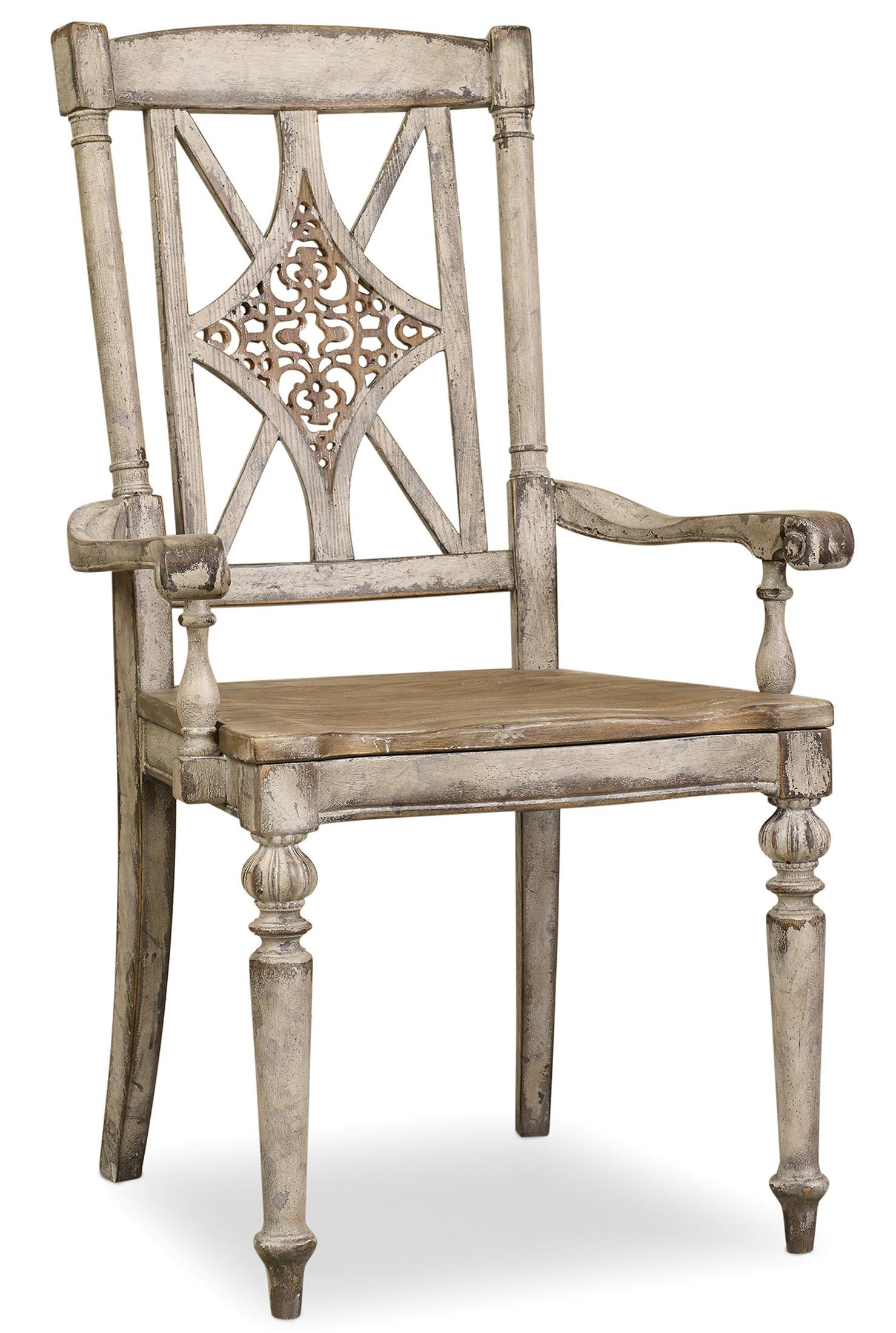 Chatelet Fretback Arm Chair by Hooker Furniture at Alison Craig Home Furnishings