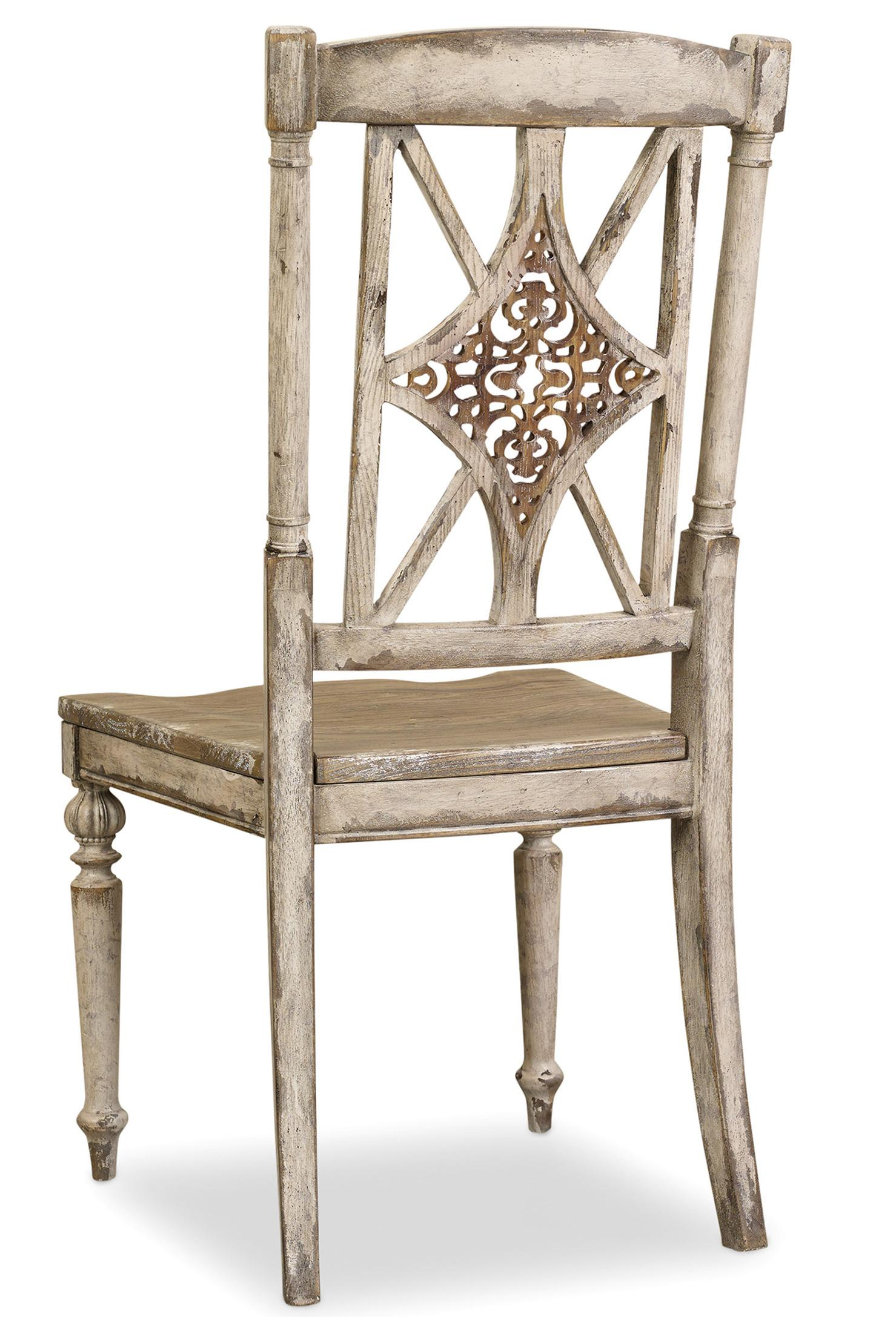 Chatelet Fretback Side Chair with Turned Legs at Williams & Kay
