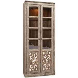 Bunching Curio with Fretwork Doors
