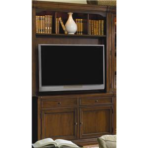 Traditional Entertainment Console with Hutch