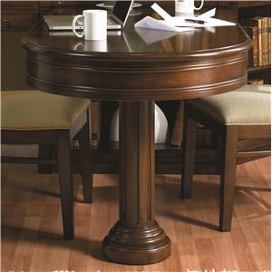 Partner's Peninsula Desk with Two Drop-Front Drawers & Pedestal Base