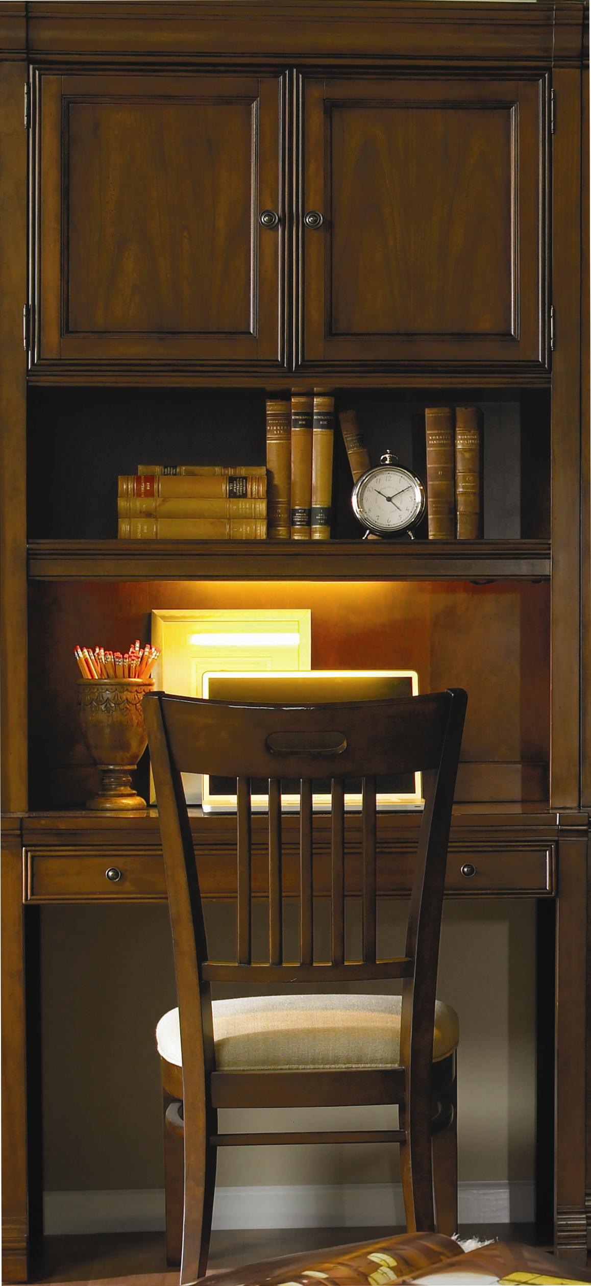 Cherry Creek  Wall Desk and Hutch Combo by Hooker Furniture at Miller Waldrop Furniture and Decor