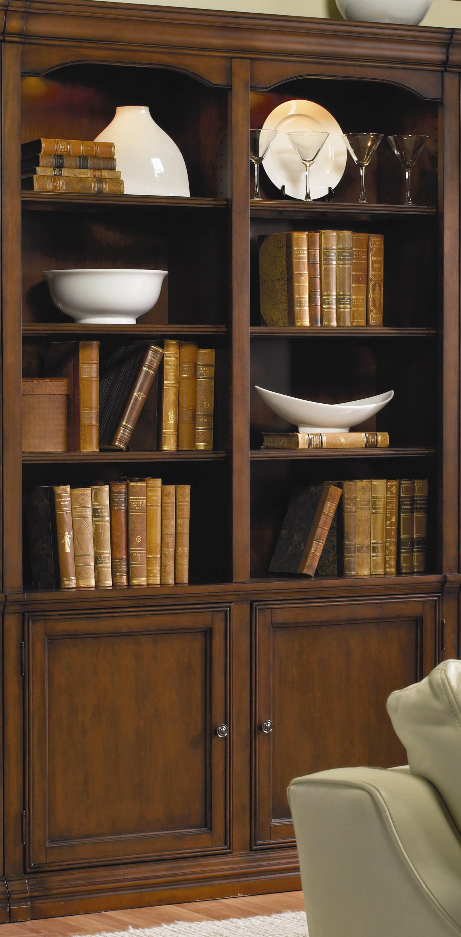Cherry Creek  Wall Bookcase by Hooker Furniture at Stoney Creek Furniture