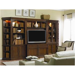 Traditional Modular Wall System with Entertainment Unit