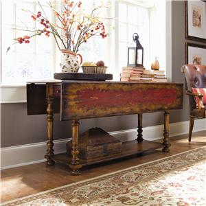 Hooker Furniture Chests and Consoles Drop Leaf Console Table