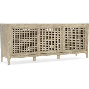 Rustic Entertainment Console with Outlet