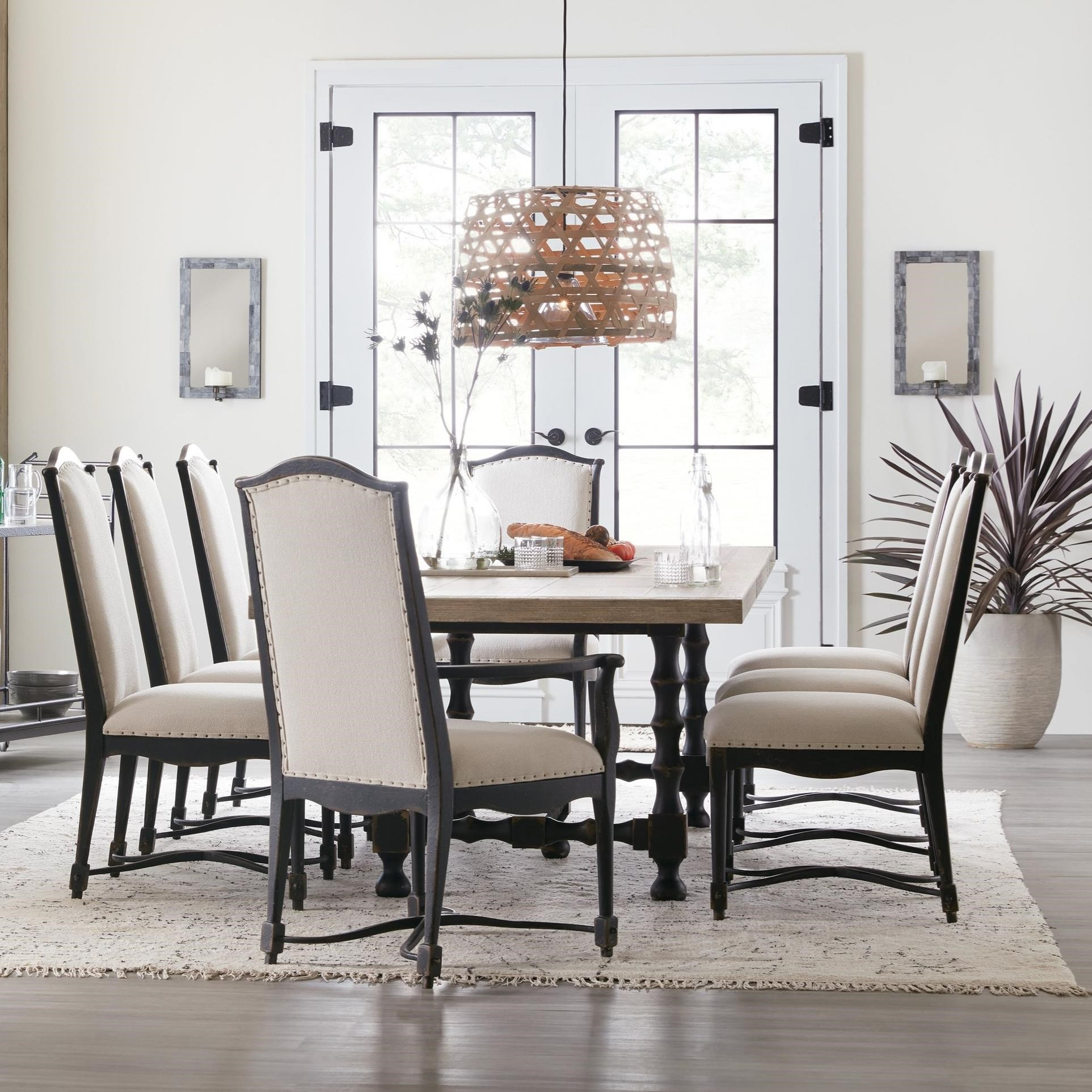 Ciao Bella 9-Piece Table and Chair Set by Hooker Furniture at Miller Waldrop Furniture and Decor