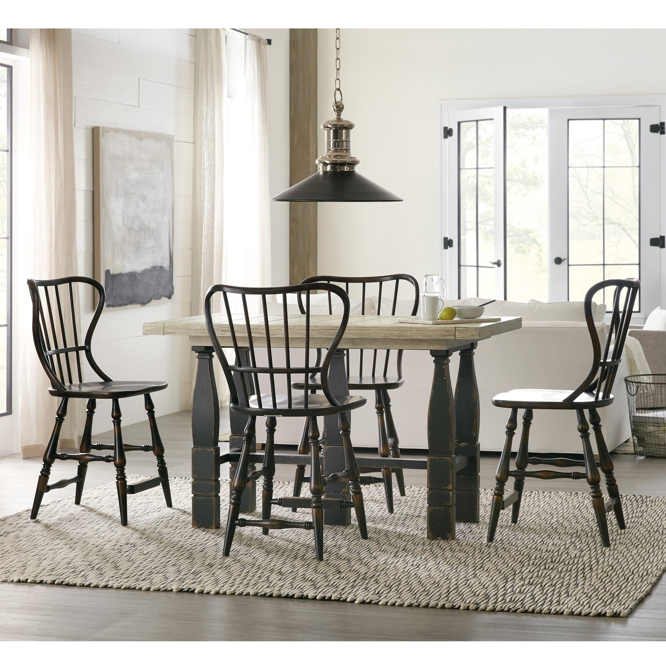 Ciao Bella 5-Piece Counter Pub Table Set by Hooker Furniture at Baer's Furniture