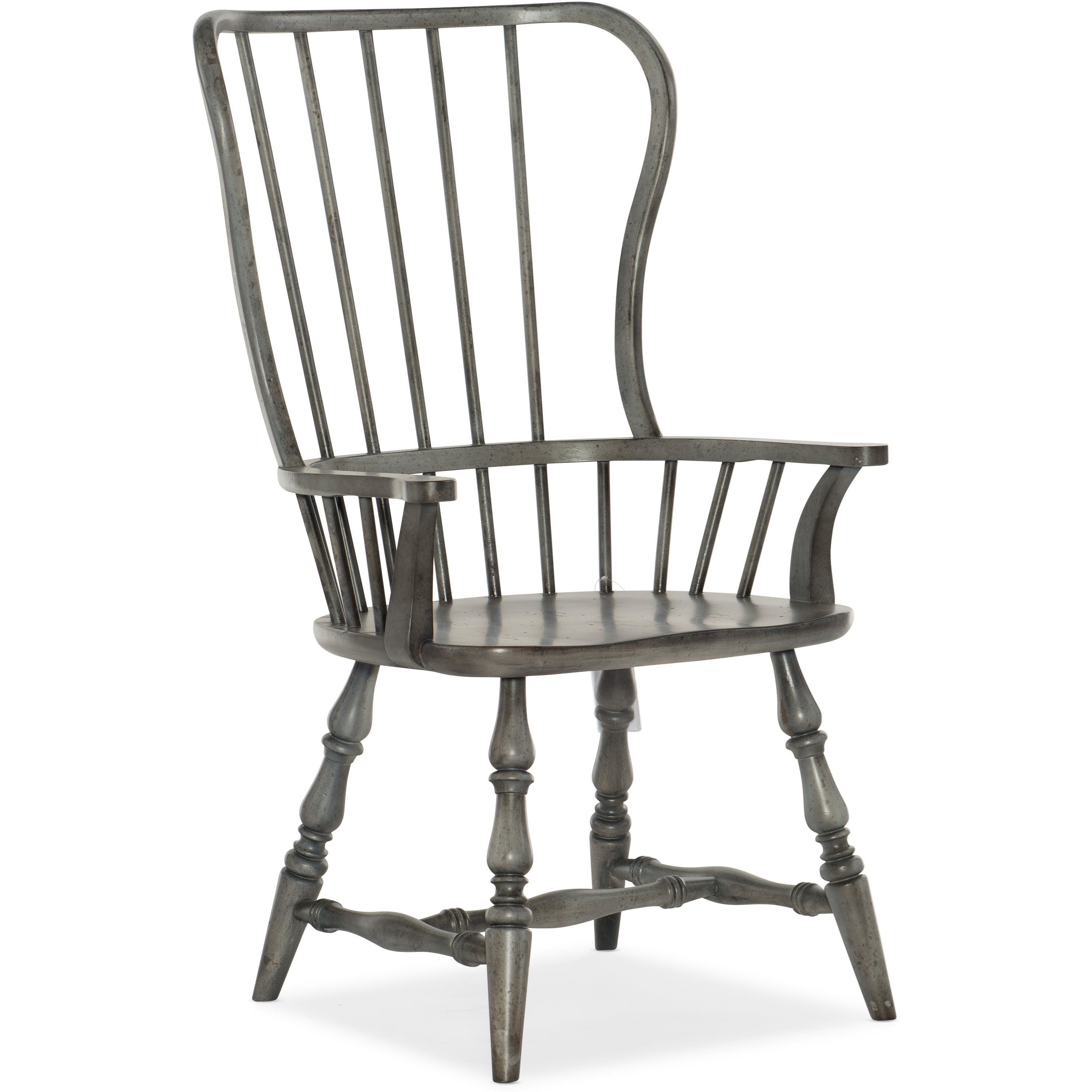 Ciao Bella Spindle Back Arm Chair by Hooker Furniture at Miller Waldrop Furniture and Decor