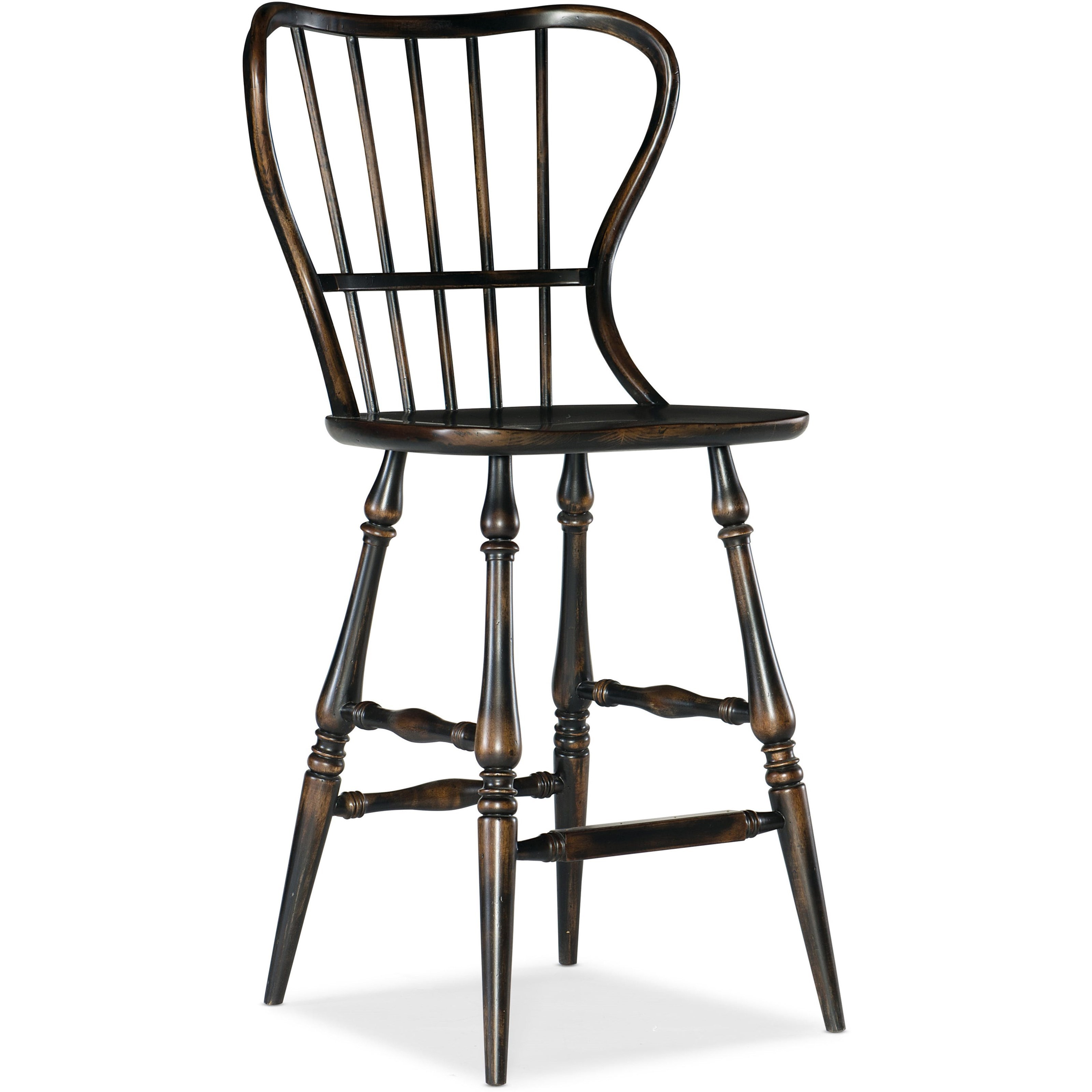 Ciao Bella Spindle Back Bar Stool by Hooker Furniture at Miller Waldrop Furniture and Decor