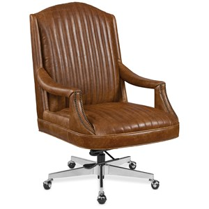 Leather Home Office Chair with Casters