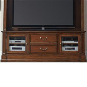 Entertainment Console with 2 Beveled Glass Doors