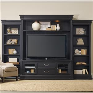 Four Piece Entertainment Group with 2 Drawers