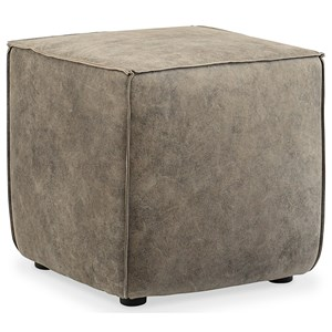 Contemporary Quebert Leather Cube Ottoman