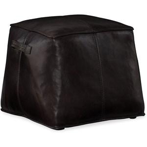 Dizzy Small Leather Ottoman