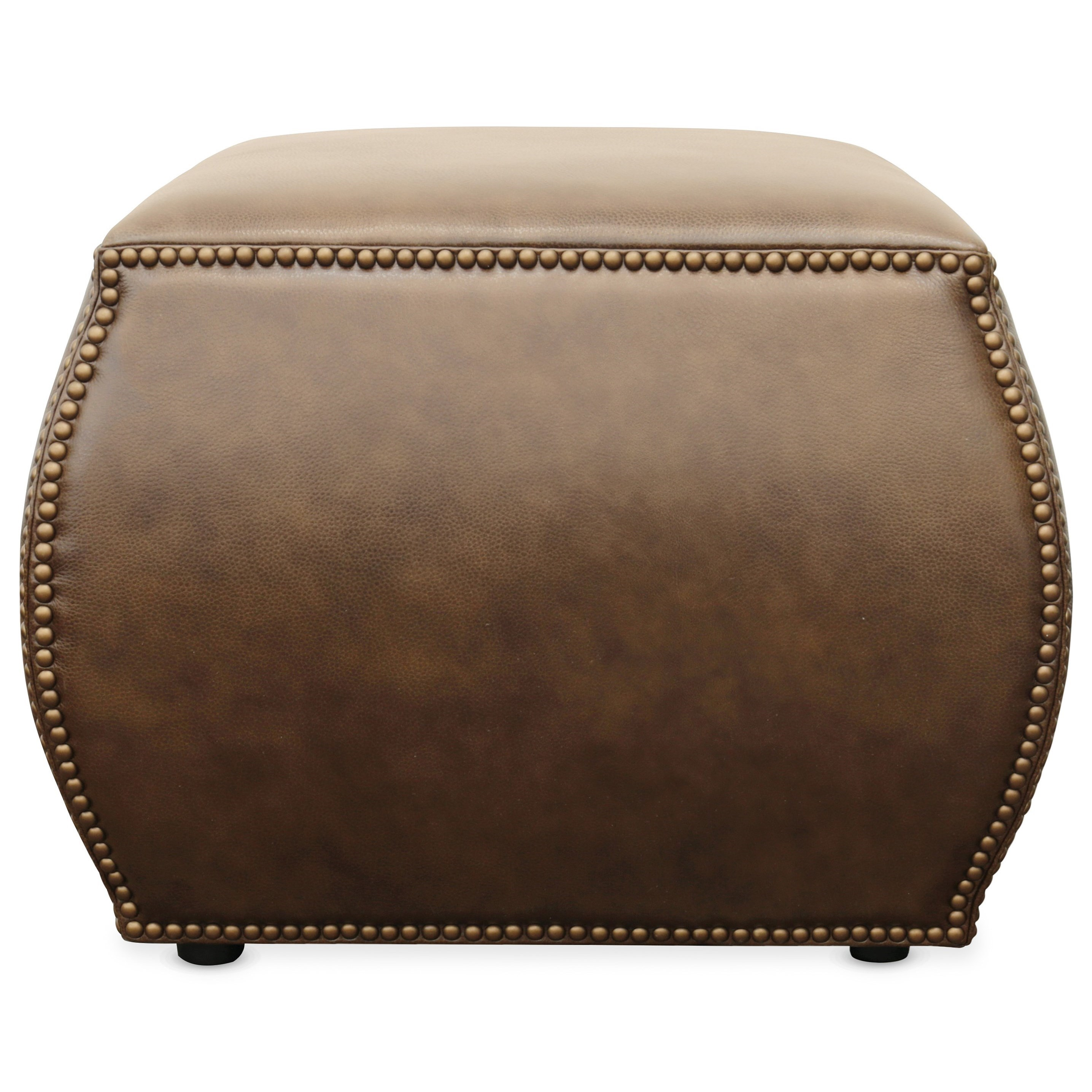 Cocktail Ottomans Cordova Leather Ottoman by Hooker Furniture at Baer's Furniture