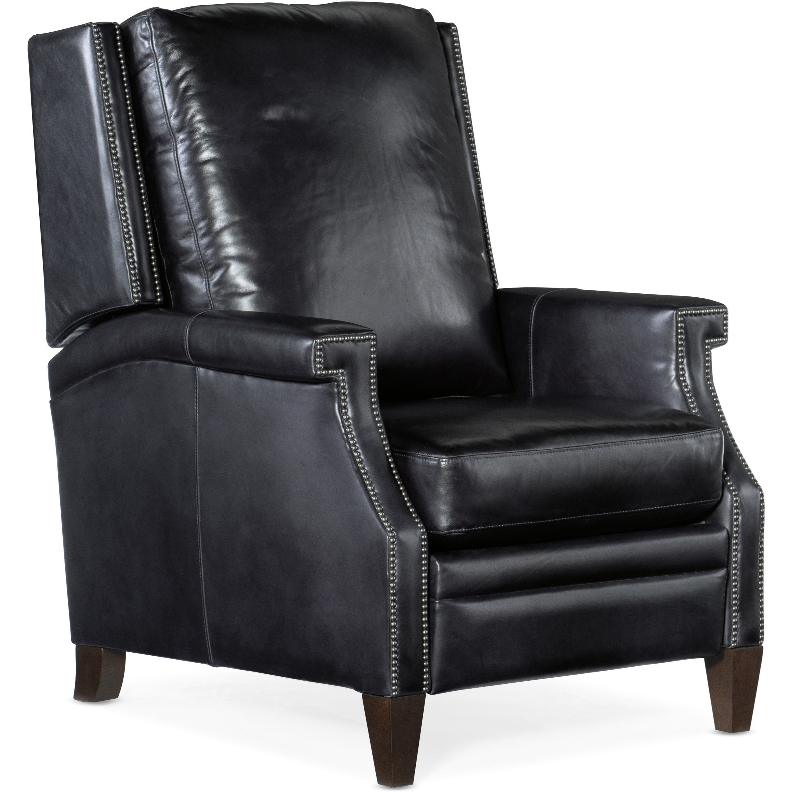 Collin Push Back Leather Recliner by Hooker Furniture at Johnny Janosik
