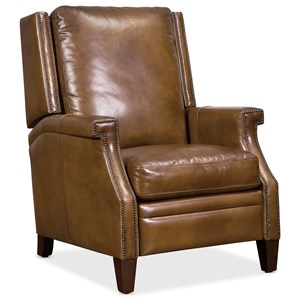Push Back Leather Recliner