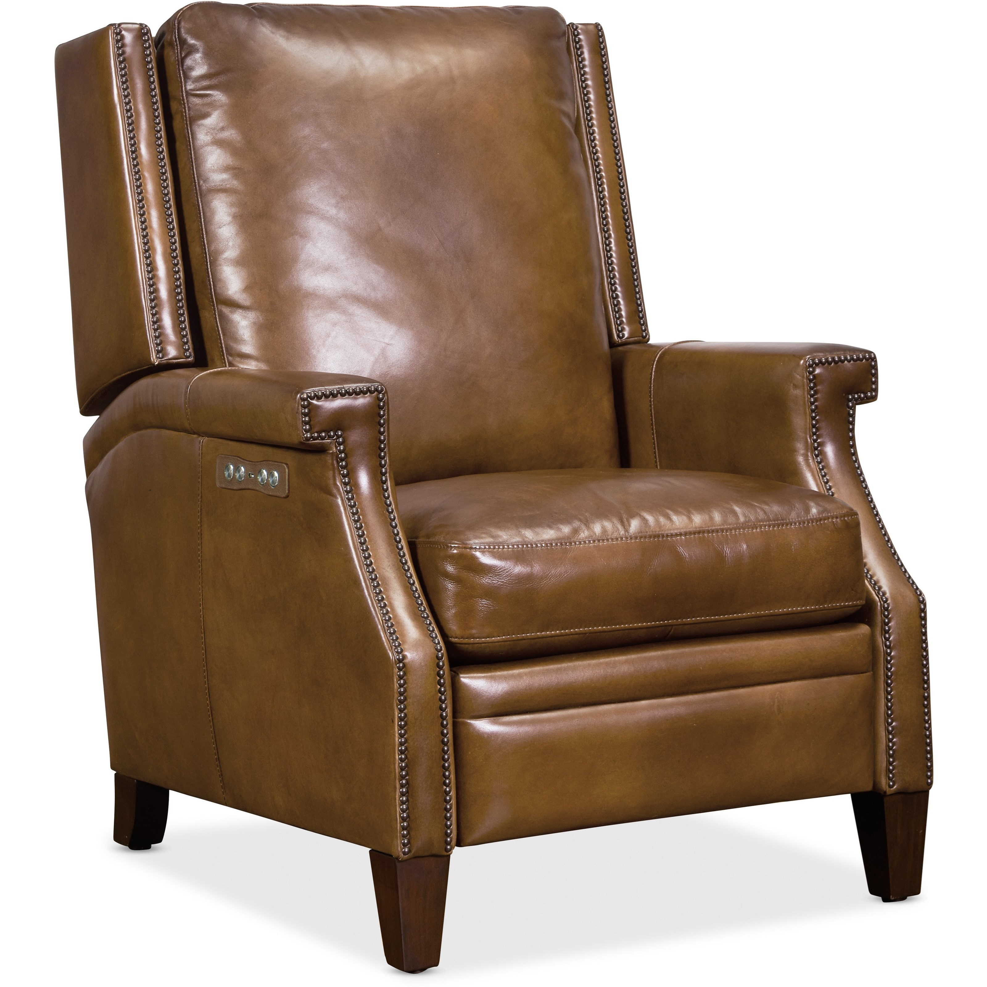 Collin Power Leather Recliner by Hooker Furniture at Baer's Furniture