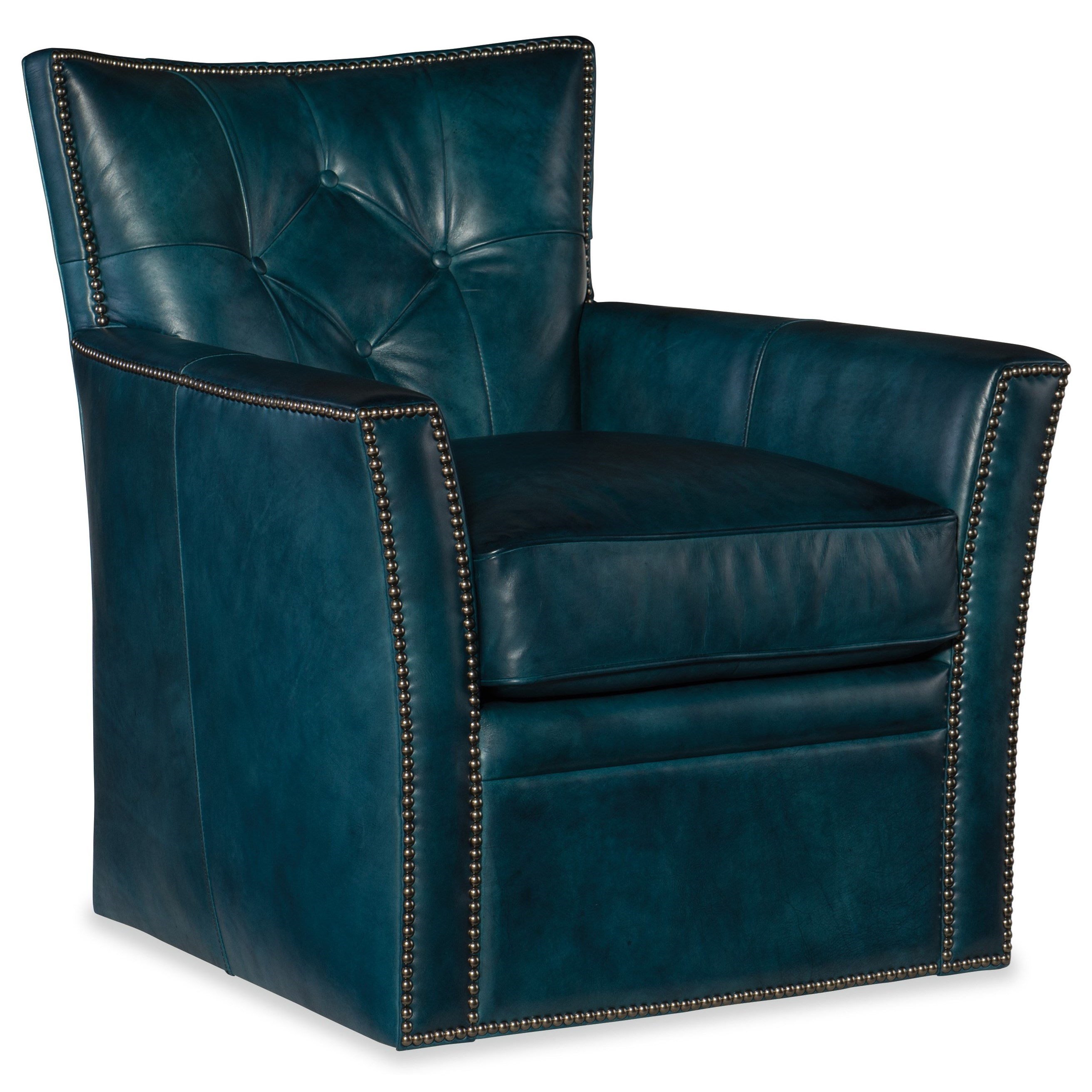 Conner Swivel Club Chair by Hooker Furniture at Baer's Furniture