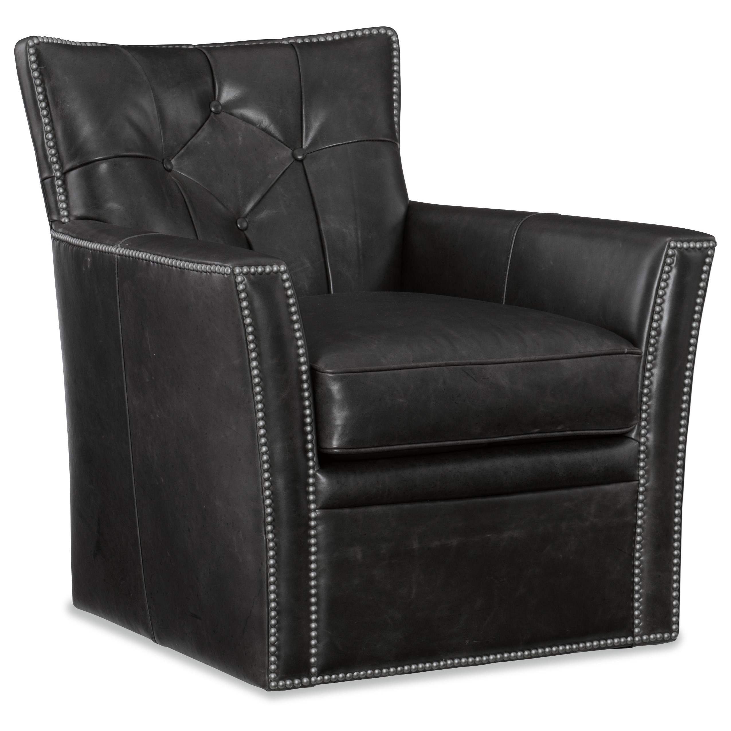 Conner Swivel Club Chair by Hooker Furniture at Miller Waldrop Furniture and Decor