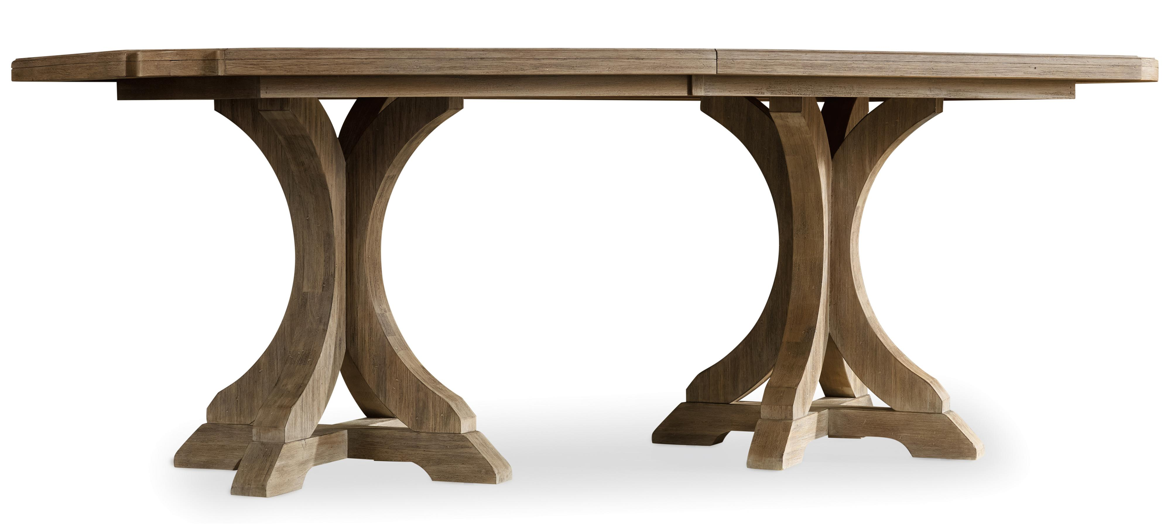 Corsica Rectangle Pedestal Dining Table by Hooker Furniture at Stoney Creek Furniture