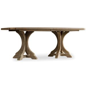 Rectangle Pedestal Dining Table with 2 20 Inch Leaves