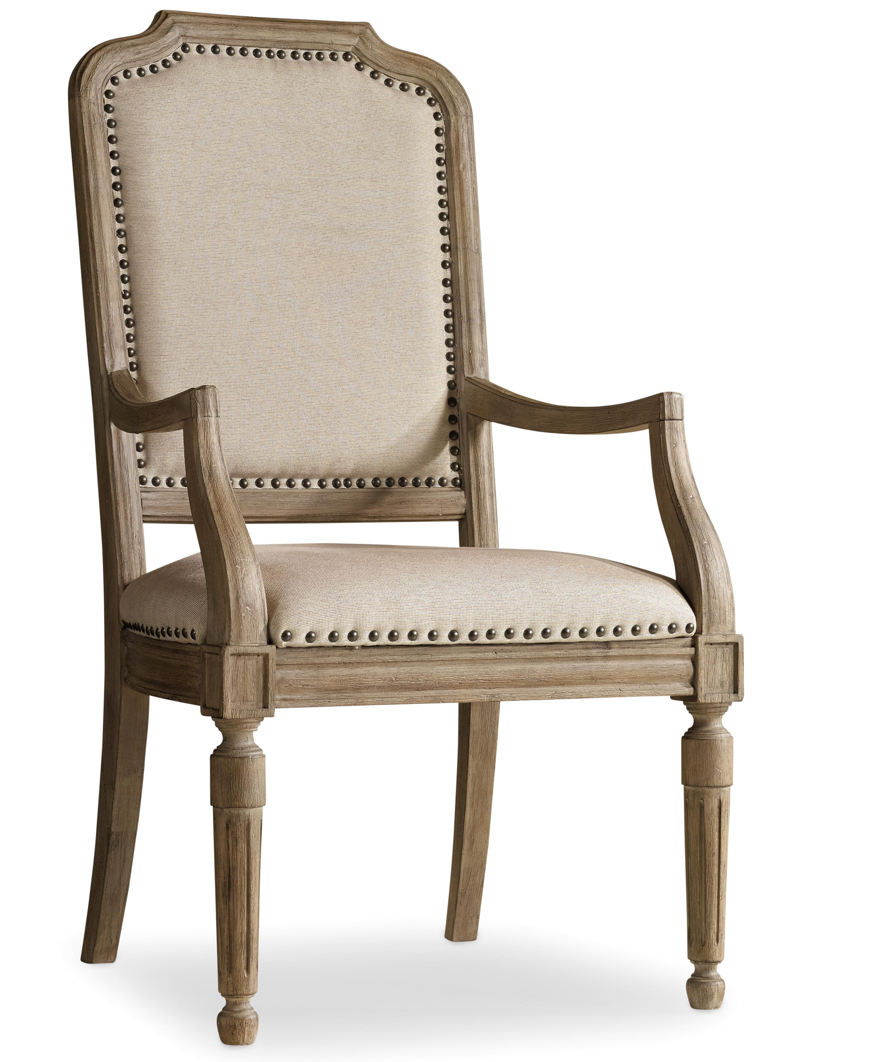Corsica Upholstered Arm Chair by Hooker Furniture at Miller Waldrop Furniture and Decor