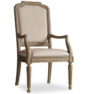 Upholstered Arm Chair with Nailhead Trim
