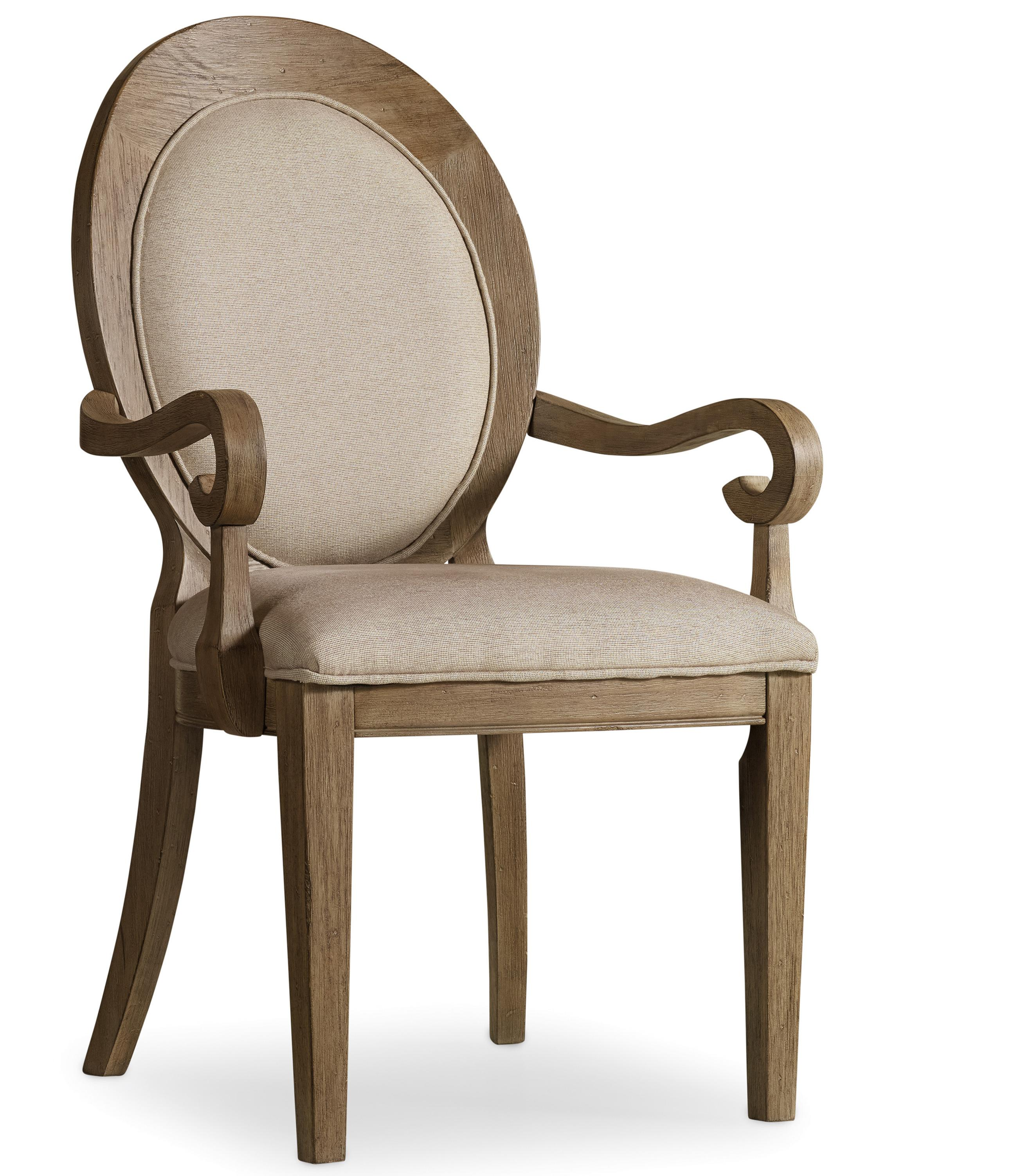 Corsica Oval Back Arm Chair by Hooker Furniture at Baer's Furniture