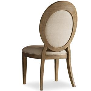 Oval Back Side Chair with Tapered Legs