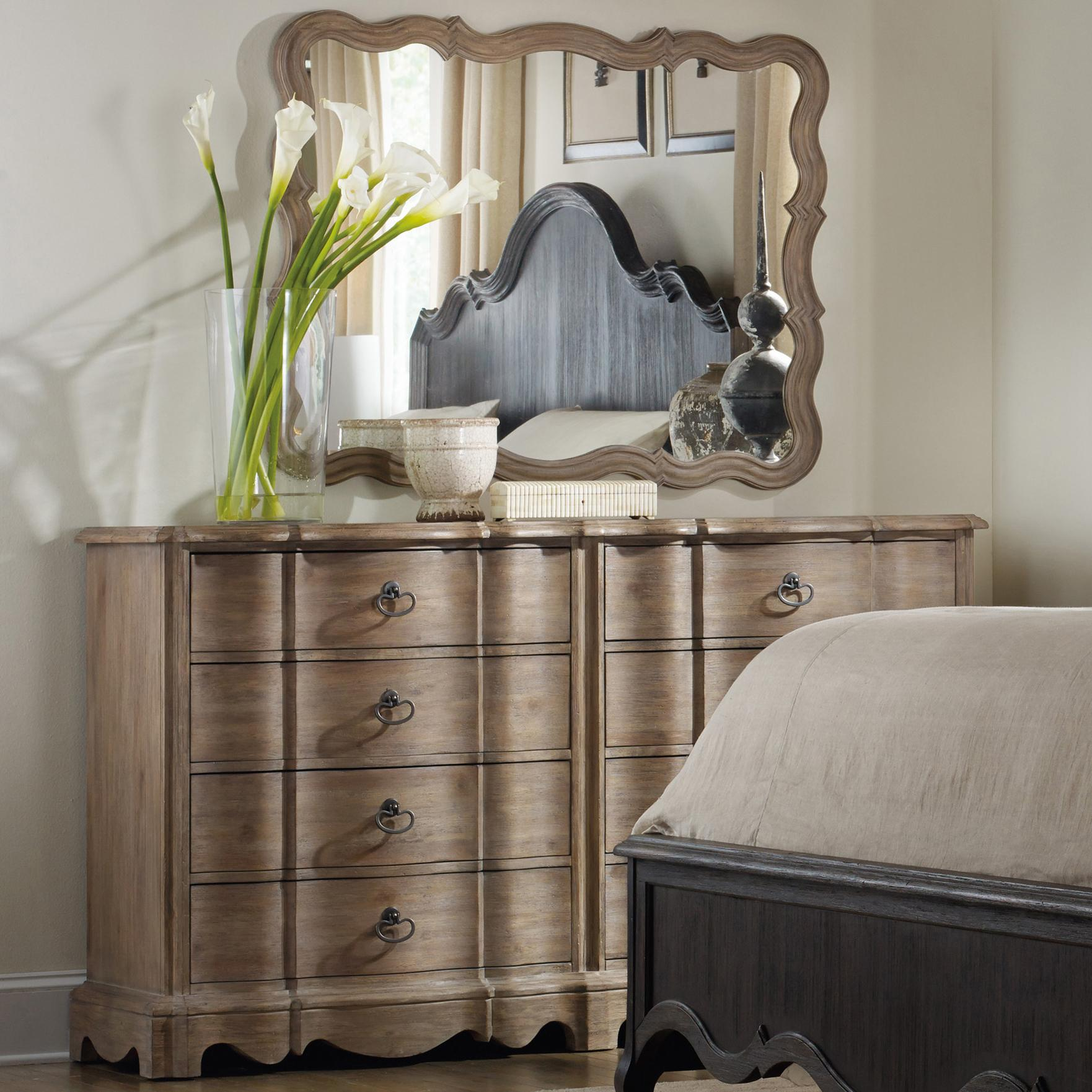 Corsica Dresser and Mirror by Hooker Furniture at Mueller Furniture