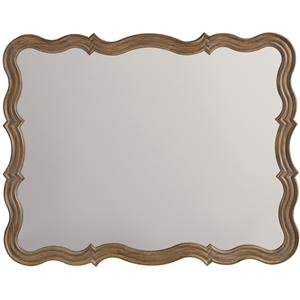 Mirror with Serpentine Frame