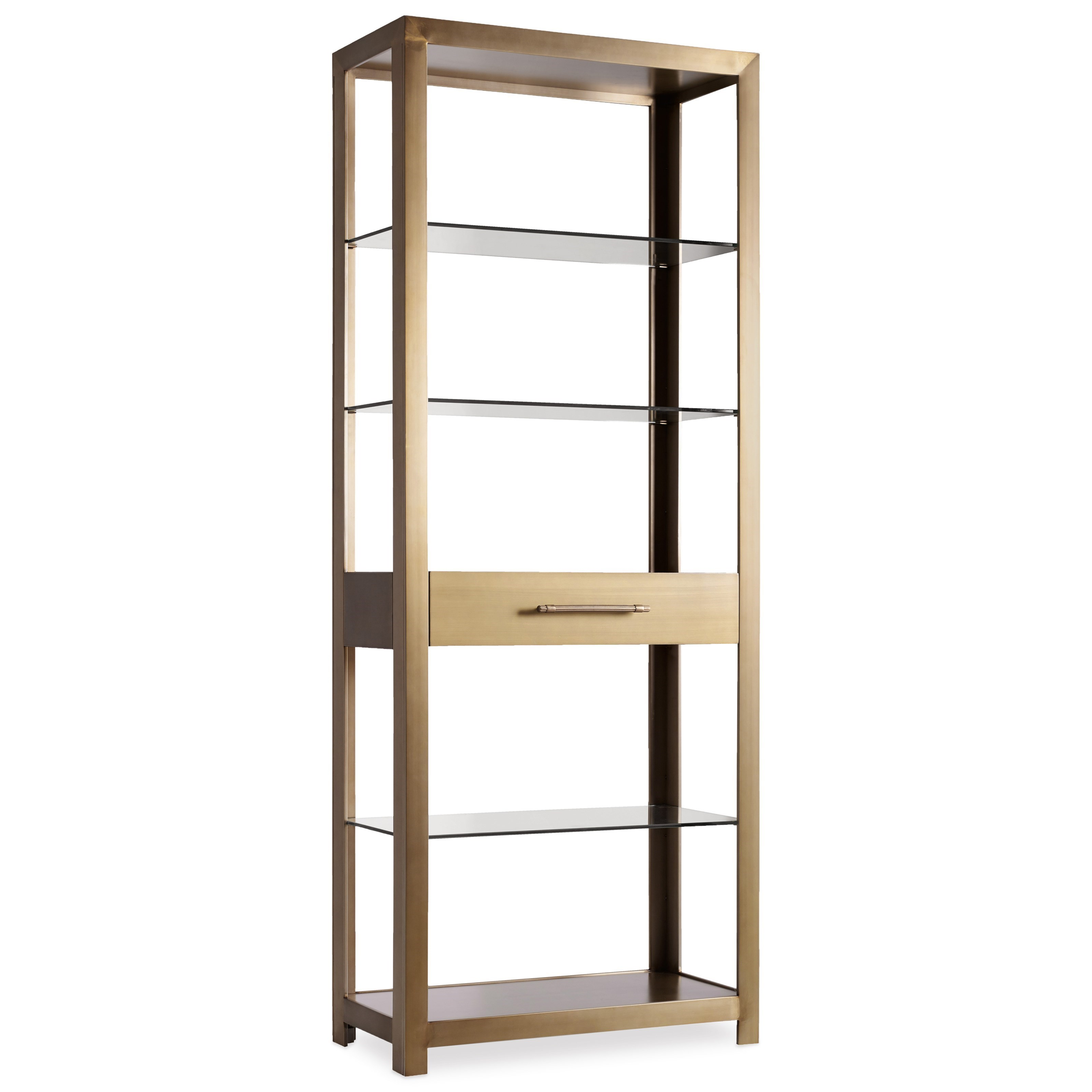 Curata Modern Open Bookcase by Hooker Furniture at Belfort Furniture
