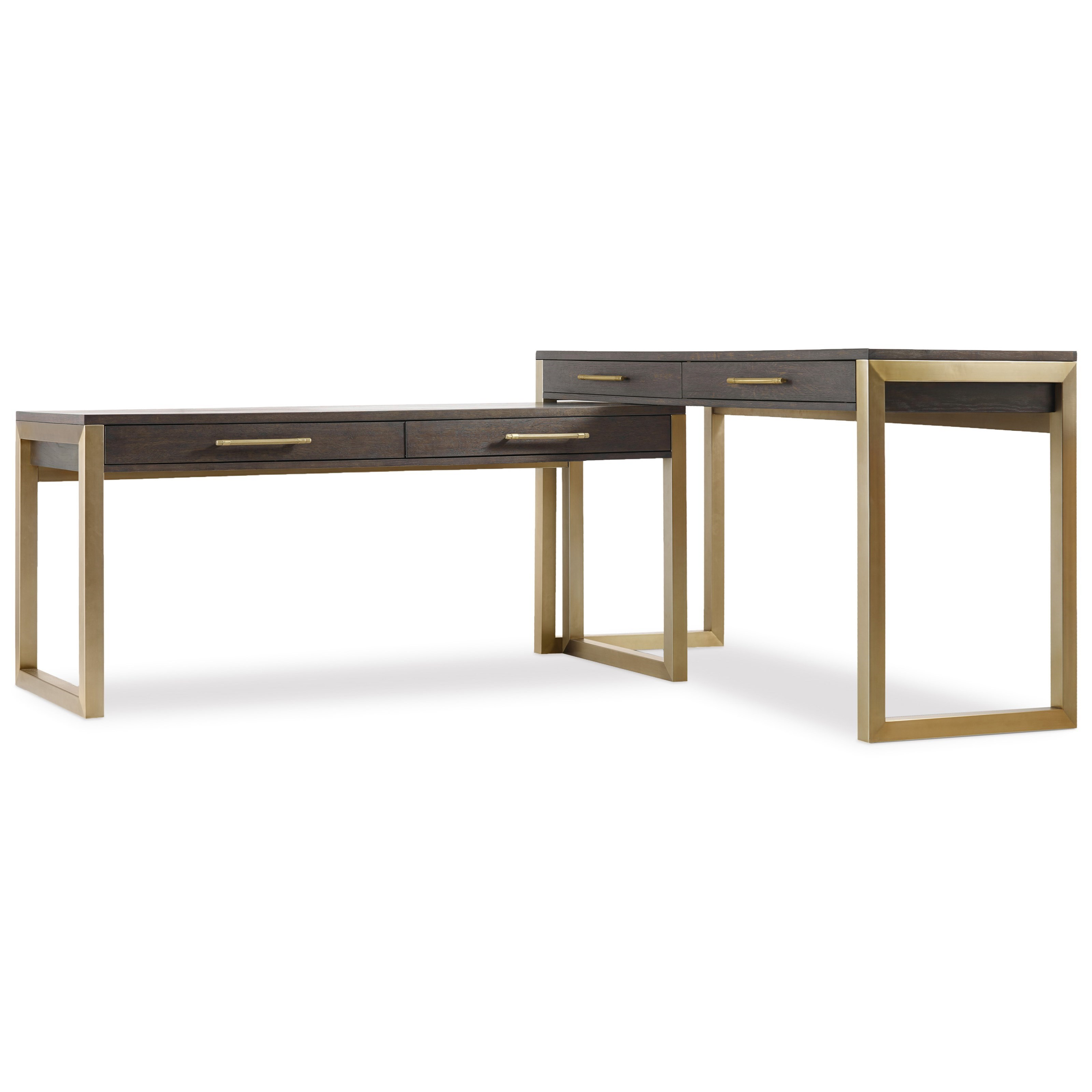 Curata Modern Two Piece Desk Group by Hooker Furniture at Miller Waldrop Furniture and Decor