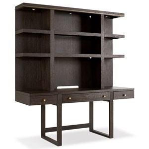 Wall Desk with Lighted Hutch